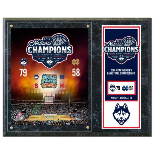 "UConn Huskies 2014 NCAA Women's Basketball Champions 12"" x 15"" Plaque"