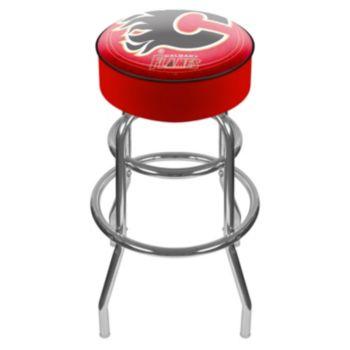 Calgary Flames Padded Swivel Bar Stool