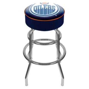 Edmonton Oilers Padded Swivel Bar Stool