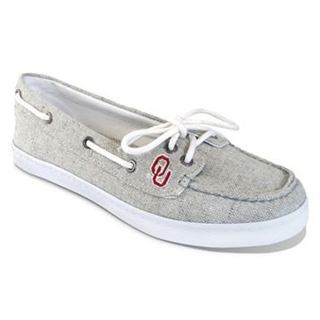 Women's Campus Cruzerz Oklahoma Sooners Kauai Boat Shoes