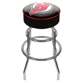New Jersey Devils Padded Swivel Bar Stool