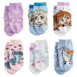 Disney's Frozen Anna, Elsa & Olaf Toddler Girl 6 pkLow-Cut Socks