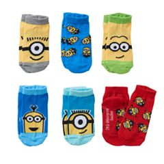 Despicable Me Minion 6 pkLow-Cut Socks - Toddler