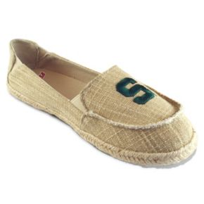 Women's Campus Cruzerz Michigan State Spartans Sparkle Cabo Slip-On Shoes