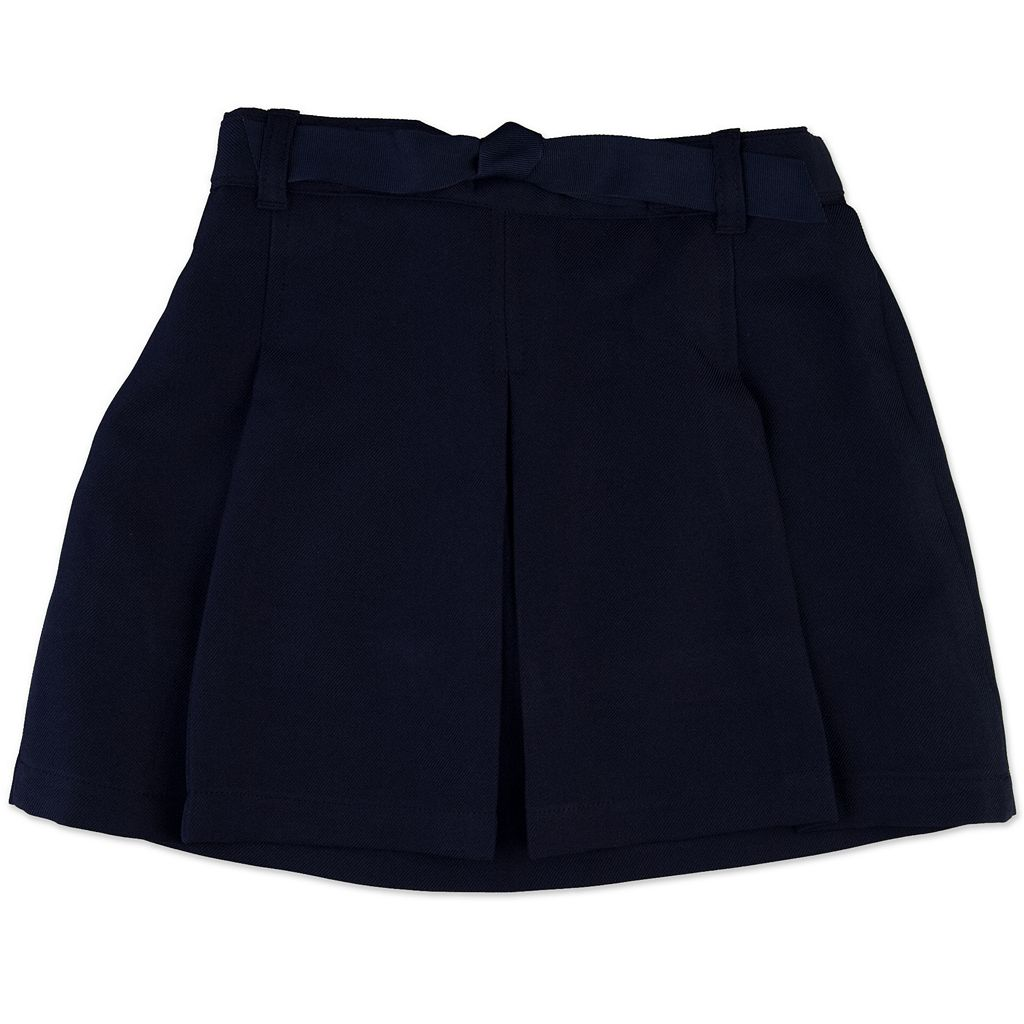 Girls 4-7 Chaps Pleated School Uniform Faux-Belt Skort
