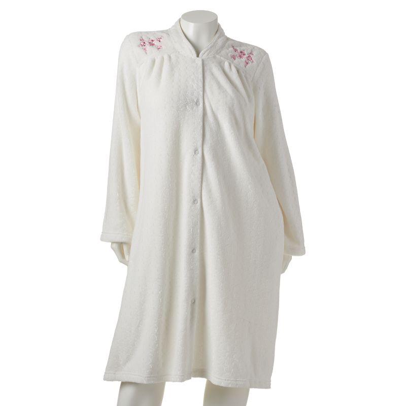 Croft & Barrow Plush Snap Duster Robe - Women's Plus Size