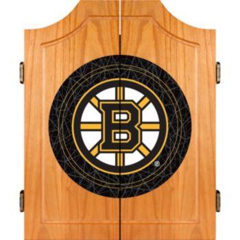 Boston Bruins Wood Dart Cabinet Set