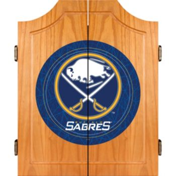 Buffalo Sabres Wood Dart Cabinet Set
