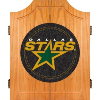 Dallas Stars Wood Dart Cabinet Set