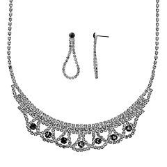 Crystal Allure Necklace & Teardrop Earring Set
