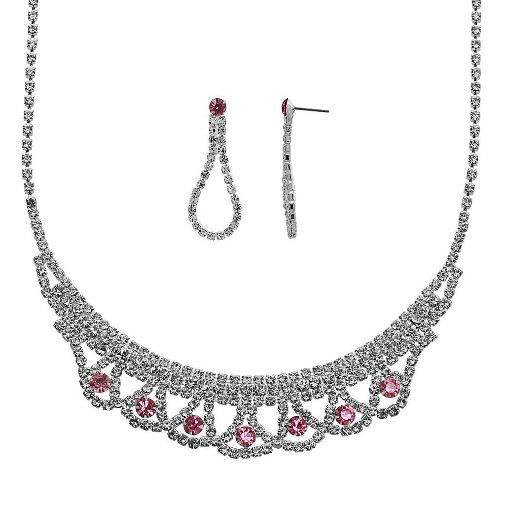 Crystal Allure Necklace & Teardrop Earring Set