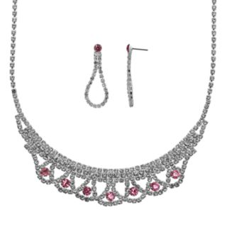 Crystal Allure Necklace and Teardrop Earring Set