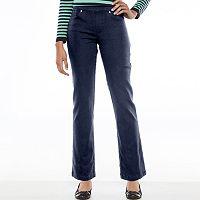 Petite Gloria Vanderbilt Avery Straight-Leg Pull-On Jeans