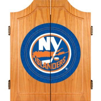 New York Islanders Wood Dart Cabinet Set