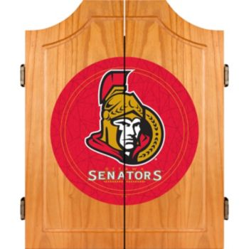 Ottawa Senators Wood Dart Cabinet Set