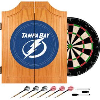 Tampa Bay Lightning Wood Dart Cabinet Set