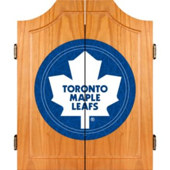 Toronto Maple Leafs Wood Dart Cabinet Set