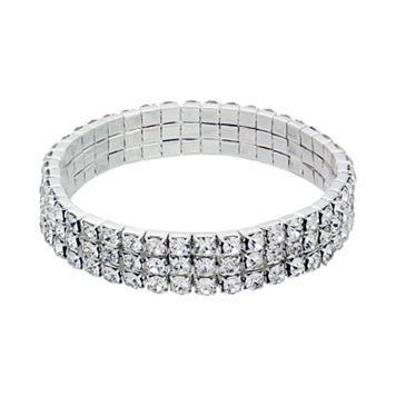 Crystal Allure Multirow Stretch Bracelet