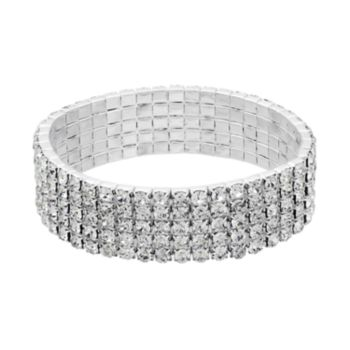 Crystal Allure Multirow Stretch Bracelet