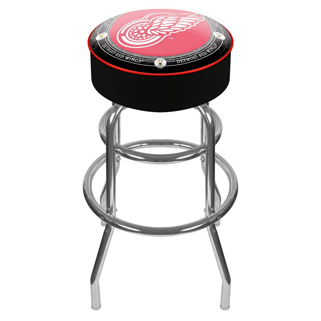 Detroit Red Wings Padded Swivel Bar Stool