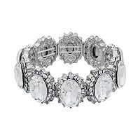 Crystal Allure Oval Link Stretch Bracelet