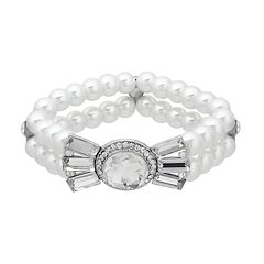 Crystal Allure Multirow Bow Stretch Bracelet