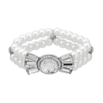Crystal Allure Multirow Bow Stretch Bracelet