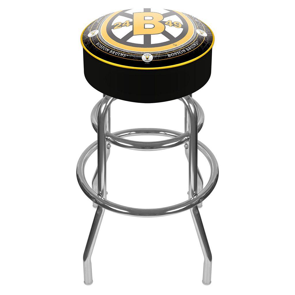 Boston Bruins Padded Swivel Bar Stool