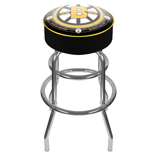 Boston Bruins Padded Swivel Bar Stool