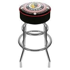 Chicago Blackhawks Padded Swivel Bar Stool