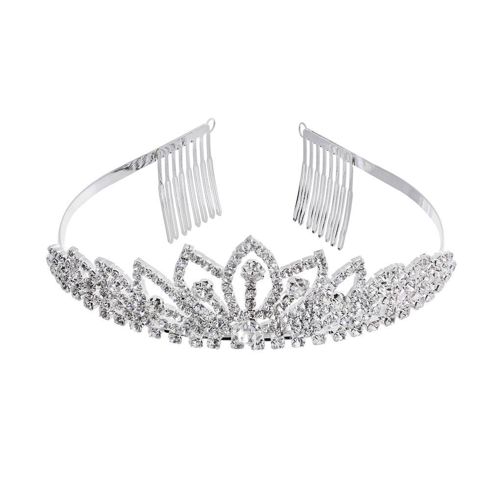 Crystal Allure Lotus Tiara Headband
