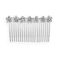 Crystal Allure Flower Hair Comb