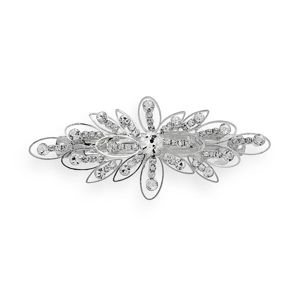 Crystal Allure Flower Barrette