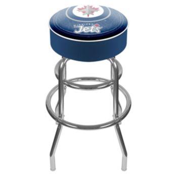 Winnipeg Jets Padded Swivel Bar Stool