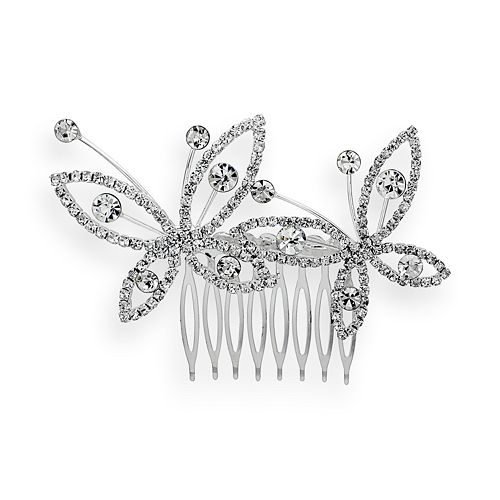 Crystal Allure Butterfly Hair Comb