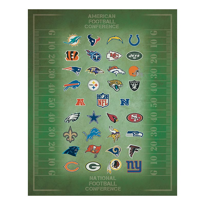 NFL Logos Canvas Wall Art