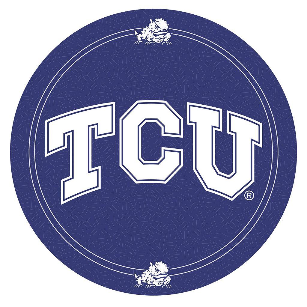 TCU Horned Frogs Padded Swivel Bar Stool