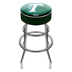 Tulane Green Wave Padded Swivel Bar Stool