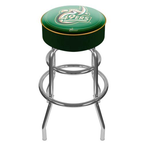 Charlotte 49ers Padded Swivel Bar Stool