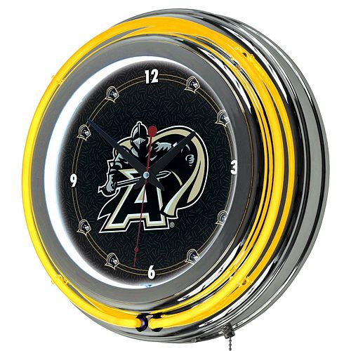 Army Black Knights Chrome Double-Ring Neon Wall Clock