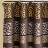 Safari Stripes Fabric Shower Curtain