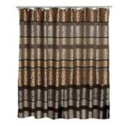 Safari Stripes Fabric Shower Curtain