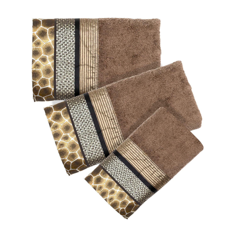 Safari Stripes 3 Pc. Bath Towel Set