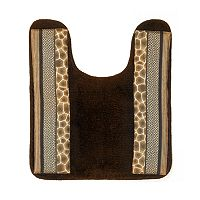 Safari Stripes Banded Contour Bath Rug
