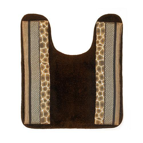 Safari Stripes Banded Contour Bath Rug