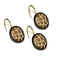 Safari Stripes 12 pkShower Curtain Hooks