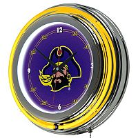 East Carolina Pirates Chrome Double-Ring Neon Wall Clock