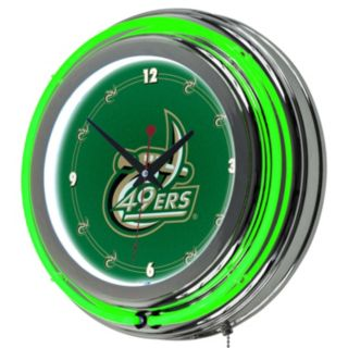Charlottle 49ers Chrome Double-Ring Neon Wall Clock