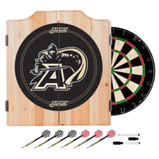 Army Black Knights Wood Dart Cabinet Set