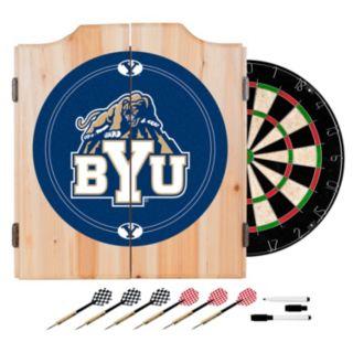 BYU Cougars Wood Dart Cabinet Set